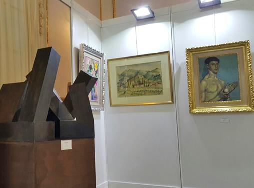 Escultura de Jorge Oteiza en la exposicion y venta de obra de arte organizada por Galería de Arte Lorenart