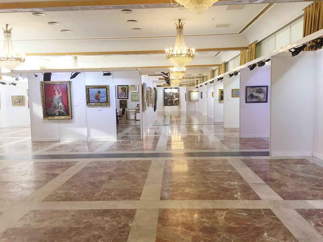 Joaquín Sorolla, Dario de Regoyos, Benjamín Palencia, etc... en la exposición de arte contemporaneo organizado por la galería de Madrid Lorenart en Pamplona