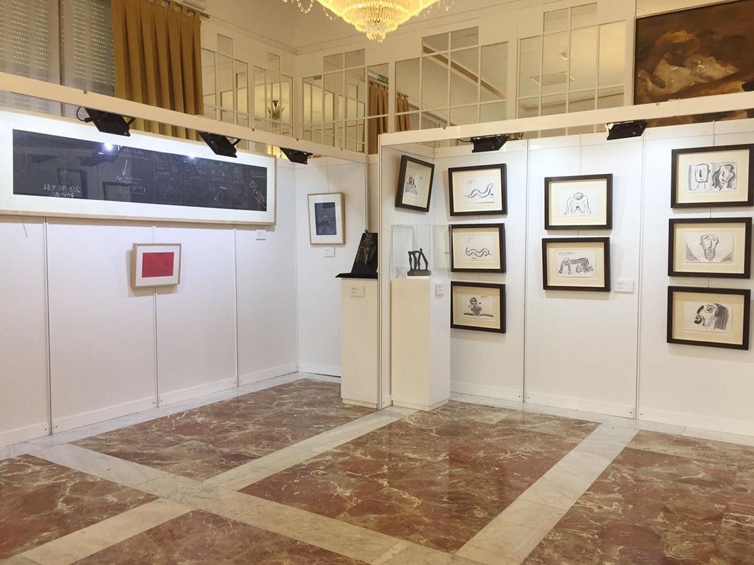 Joaquín Mir, Menchu Gal, Dario de Regoyos en la exposición de arte contemporáneo y de vanguardia celebrada en Pamplona